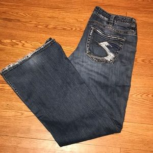 Silver Jeans Lola Flare With Whisking great color